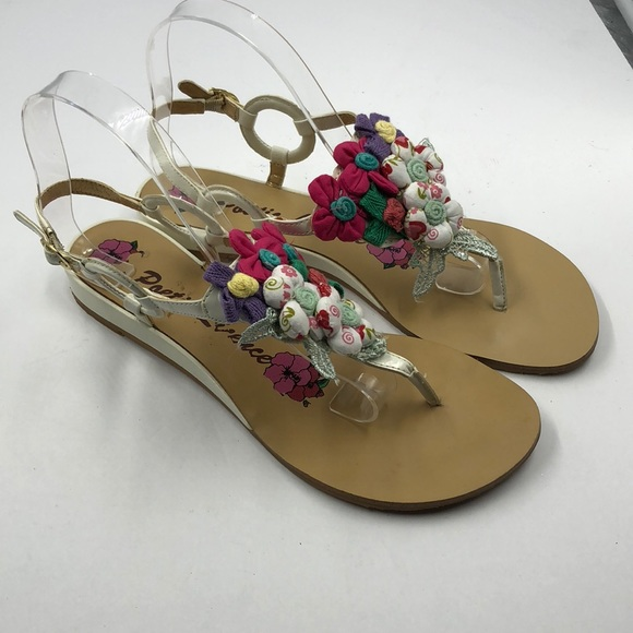 844bfec00653f Poetic License Shoes - Poetic Licence Floral Fabric Thong Sandals 9.5